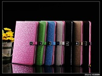 wholesale color leather case for ipad mini 7.85inch 10pcs/lot