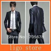 new men fashion brand business suit slim wedding dress suits/one button suit for men size XS-4XL