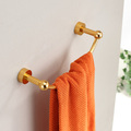 Free shipping Space aluminum single golden towel rack towel bar bathroom accessories mounted by screw