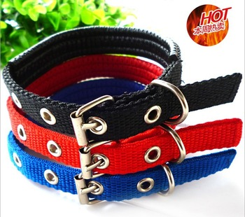 Free shipping Wholesale 10pcs/lot Dog Collars Adjustable Pet Dog Collars Training Slip Lead Leash Neck Trip 4 size Mix Colors