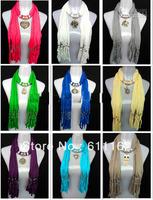 New Arrival Pendant necklace scarves shawls womens scarves novel scarves cotton scarves 60pcs/lot