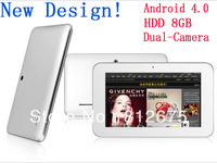 "7"" Screen Allwinner A13 1.0-1.5GHz+512MB RAM+8GB HDD+Dual Camera+5 points capacitive touchscreen+WiFi Support External"