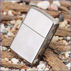 retail-Oil lighter silver lighter cool mirror lighter,classic smooth mirror face lighters Dropshipping(China (Mainland))