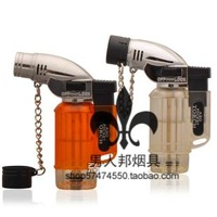 Fashion torch lighter straight windproof lighter hookah smoking pipe lighter