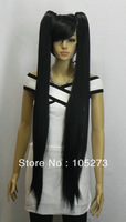 New Arriver Retail Cosplay Wig Party Wig Long Straight Hair Wigs Woman's Lady's Black Color High Temperature Wire Free Shipping