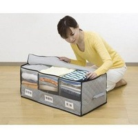 Storage Bag Received Box Big Bamboo charcoal with Windows classification 3 case clothing finishing box Free shipping