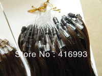 "Top Quality 20"" 22'' 2# Darkest Brown Color Links/Loop Hair  Micro Ring Hair Human Hair Extensions Indian Remy 300g/lot  DHL"
