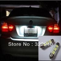 Free EMS/DHL Shipping 100pcs 41mm 3 SMD 5050 LED white color Car Bulbs light lamp Festoon Dome Light