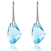 White Gold plated nice austrian crystal drop earrings wholesale fashion Jewelry  earring  GE107