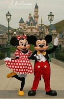 Adult Mickey Mouse And Minnie Mascot Costumes Halloween Outfit Fancy Dress Suit Free Shipping
