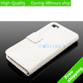 High Quality Crocodile Flip Leather Wallet Case Cover For Apple iphone 5 5G 5th Free Shipping UPS DHL EMS CPAM HKPAM NV-81