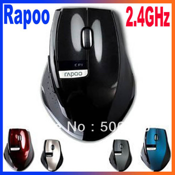 Brand New 2.4GHz Rapoo 3200 Ergonomic USB Wireless Laser PC Mouse Optical Mini Adapter bluetooth Free Shipping