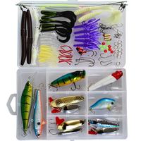 Free shipping, 88pcs/box, Fishing Lure Hard Plastic Minnow/Popper/Pencil/Crank/Spoon