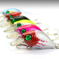 Free shipping, 6pcs/lot, 8g/5.5cm Fishing Lure Crank