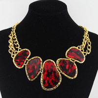 Freeshipping-New arrival New women mix colours resin big bib statement necklace