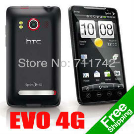 Original HTC Evo 4G a9292 CDMA Unlocked Mobile Phone 8MP Camera Android OS with SIM Card Slot --- Free Shipping
