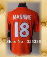 Denver Football Jerseys Brand New 18 Peyton Manning Orange  Mens Helmet Tri Blend Limited Jerseys