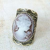 J110026 cameo ring ladies nice jewelry wholesale FREE SHIPPING