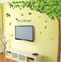 free shipping Big tree glass stickers wall stickers decorative painting wall painting wedding supplies tv wallpaper