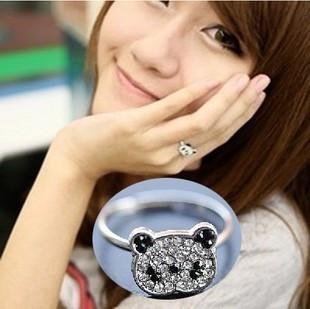 Acessórios E1184 varejo de bling delicado anel de dedo anelar strass completo ( KE )(China (Mainland))
