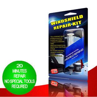 English manual+Free shipping high quality SIKEO DIY Windshield Repair Kit +retail box