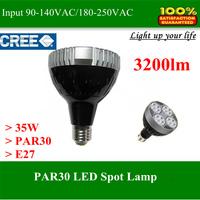 High power LED Spot lamp light PAR30 35W Cree for track light