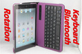 MOQ:1pcs,  Bluetooth Keyboard 360 Rotation Stent Leather Case For ipad mini,HK Post Free Shipping, C0044