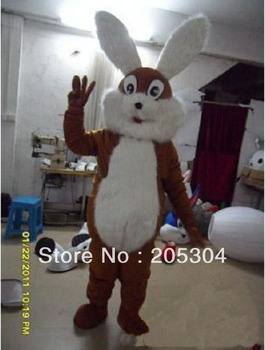 Brown Bunny Mascot Costume Characters Costume Halloween Kids Party Gift Dress Free Shipping
