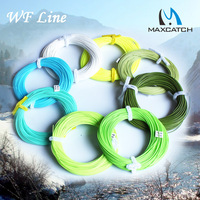 Free shiping!!1 pcs WF4F fly fishing line 100FT mix colors