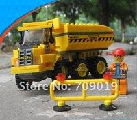 Enlighten Child 8043 DIY educational toys Engineering Series KAZI building block sets,children toys free Shipping