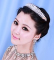 2013 New Crystal Tiara Crown for Bride Quinceanera Crowns Pageant Hair Jewelry Free Shipping WIGO0091