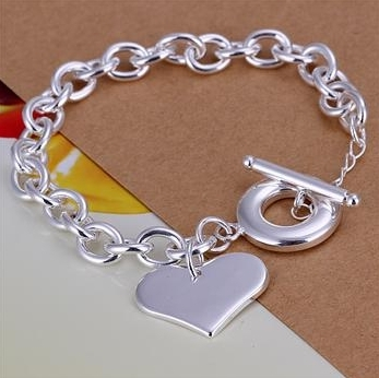 EMS Free When Order>$200, H021 the blisters peach heart cards Bracelet foreign trade fashion jewelry Bracelet(China (Mainland))
