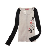 Free shipping!2014 new 76%Wool long sleeve knitted cardigan sweater for women/-HY058