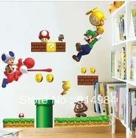 Free shipping super mario bros  children's room bedroom parlour wall sticker
