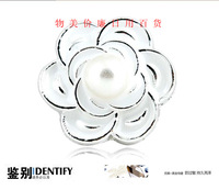 Pearl alloy camellia handmade diy rhinestone for phone case material kit part phone rhinestone pasted diy accessories