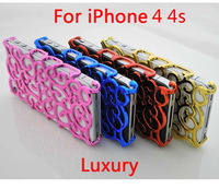 wholesale-luxury Swirling Chrome Electroplating Hollowed Hard Bird Nest Cover case For iphone4 4G , Free Shipping 10pcs/lot