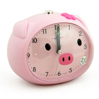 cartoon speech alarm clock small pig stype sweep movement