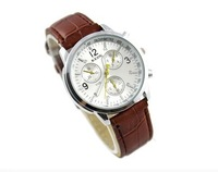 Kede fashion sports casual leather watch lovers table fashion student table