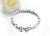 Free  shipping  Men and women fashion 925 silver bracelet silver ornament