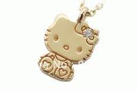 Free Shipping,hello kitty wholesale,hello kitty jewelry cheap,cute hello kitty in gold bow free jewelry gift-12pcs/lot J00102