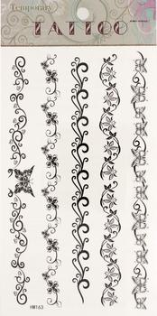 Temporary Tattoos 18pcs Fashion Waterproof Body Vine Tattoo Sticker paper Mixed 5 Designs Nontoxic 60109