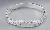 Free  shipping  925 sterling silver jewelry male tide people silver bracelet