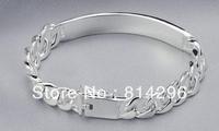Free  shipping  925 sterling silver jewelry male tide people silver bracelet