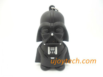 10pcs Star Wars Darth Vader USB Flash Drive Real 2GB 4GB 8GB 16GB 32GB OEM rubber Gift USB stick Christmas Gift free shipping