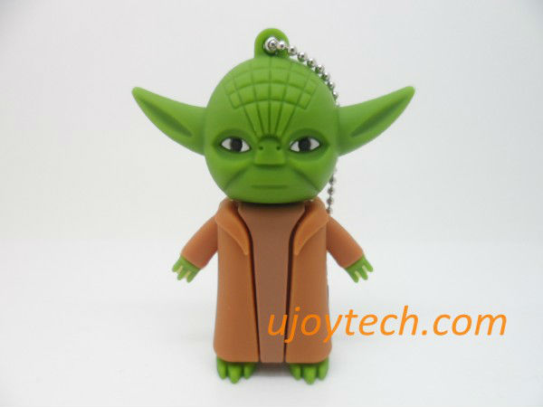 10pcs Star Wars Yoda USB Flash Drive Real 2GB 4GB 8GB 16GB 32GB 64GB OEM rubber Gift USB stick Christmas Gift free shipping(China (Mainland))