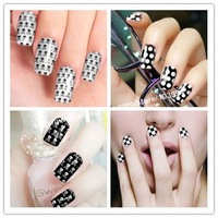 Hot! FREE SHIPPING 20Pack MINX Fashion Style Nail Art Sticker Shiny Brilliance Self Adhesive Nail Wrap Foil Decal Human Skeleton