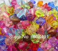 Free shipping mix colors transparent bicone beads!Fashion 10mm faceted jewelry bicone spacer beads!