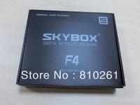 10pcs/ctn original receiver VFD display support YouTube GPRS Sharing, sky box f4 satellite receiver