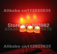 Milky White DIP LED 5mm red straw hat led(Diffused)625-630NM 1.7-2.2V(CE&Rosh)