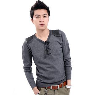 Мужской пуловер Autumn and winter V-neck male sweater yarn shirt sweater male